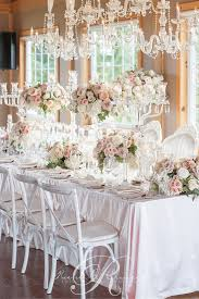 table decor for weddings. Elegant Floral Crystal Head Table Decor And Details. For Weddings