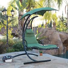 hanging chaise lounge chair hammock swing canopy glider outdoor patio furniture 1 of 1free