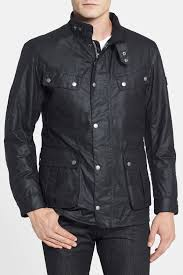 image of barbour duke regular fit waterproof waxed cotton jacket