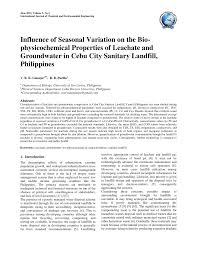 PDF) Review on the Impacts of Waste Disposal Sites in the Philippines