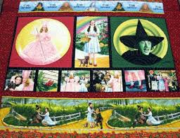 Wizard of Oz Lap Quilt by Quiltsbybarb on Etsy | Quilted wall ... & Wizard of Oz Lap Quilt by Quiltsbybarb on Etsy Adamdwight.com
