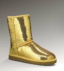 UGG Classic Short Glitter Boots 3161 Gold