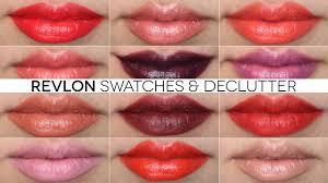 Revlon Super Lustrous Lipstick Colour Chart Revlon Lipstick Swatches Declutter Colorburst Super Lustrous