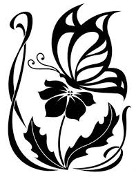 Flower And Butterfly Stencil Designs Flower And Butterfly Cross Stitch Chart Craftsy Tattoo