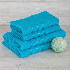 Купить <b>набор из 4 полотенец</b> aisha бирюзовый по цене 1 299 руб ...