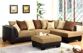 brown microfiber sectional couch brown microfiber brown microfiber and leather sectional sofa with ottoman by acme