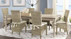grey rattan dining table. cindy crawford home key west sand 5 pc rectangle dining room with rattan chairs - sets light wood grey table