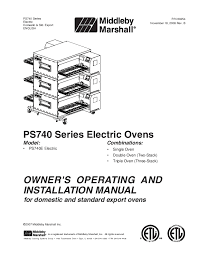 search ovens user manuals manualsonline com Middleby Marshall 360 Parts at Wiring Diagram Book For Middleby Marshall