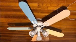 hton bay carousel ii ceiling fan 44 pastel colored blades