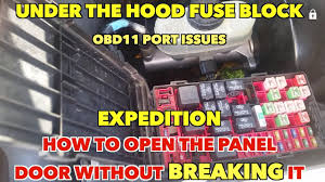 under the hood fuse block open it without breaking the cover obdii 2004 Ford Expedition Fuse Box Location at Where Is Fuse Box On 2004 Ford Expedition