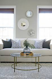 round coffee table decor furniture plush living room with round