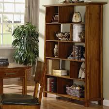 labels wooden bookshelves with doors