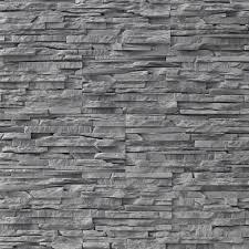 wallstone splitface panels get a grey stone wall look