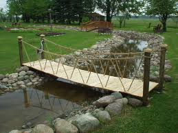 Small Picture Garden Bridges 4 52ft long Elegant Wooden Landscape Garden Bridge