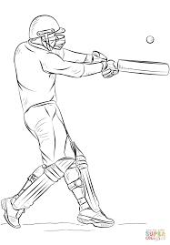 Bat Cricket Ball Coloring Pages Print Coloring