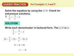 guided practice for examples 3 4 and 5 solve the equation by using the