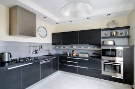 black appliance matte seamless kitchen: sleek modern kitchen black cabinets and counter