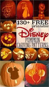 Disney Pumpkin Stencils: Over 130 Printable Pumpkin Patterns