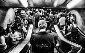 people on escalators. why bangkok gives me escalator rage people on escalators n