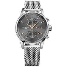 hugo boss men s jet chronograph date mesh bracelet strap watch hugo boss men s jet chronograph date mesh bracelet strap watch silver slate