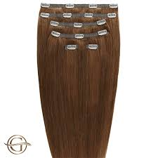 Clip On Hair Extensions 12 Light Golden Brown 7 Stuks 60 Cm