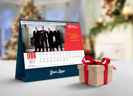 free desk calendar 2018 mockup psd