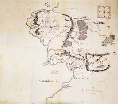 are the maps at the beginning of each lotr book hand drawn by