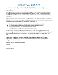 Best Aircraft Mechanic Cover Letter Examples Livecareer Best