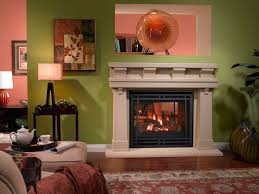 gas fireplace traditional closed hearth double sided see through
