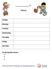 Daily Chores Checklist Free Printable Charts For Kids Priceless Parenting
