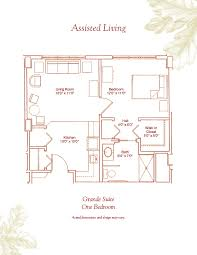 Units Plans And Photos  Senior Housing Floor Plans  Augustana Assisted Living Floor Plan