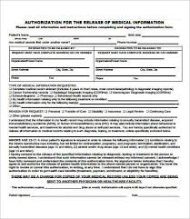 Records Release Form Template Sample Dental Records Release Form 8 ...