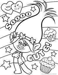 Sooo Cute Les Trolls Imprimer Et Colorier Sans Plus Tardera Dessin Deja Colorier A Imprimer Gratuit L