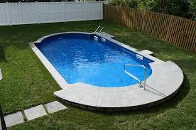semi inground pool ideas. Semi Inground Pool With Deck Ideas