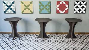 Mosaic Tile Kitchen Floor Kitchen Tile Floor Cement Geometric Pattern 10143 Mosaic