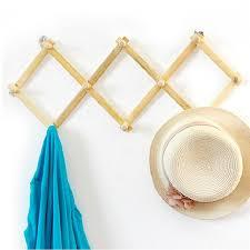 Expandable Wooden Coat Rack Best Expandable Solid Wooden Coat Hanger 100 Peg Keys Hat Towel 25