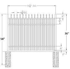 picket fence drawing. Picket Fence Drawing Falcon Commercial Aluminum  