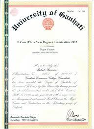 Sample Original Degree Certificate 6 Graduation Pcertificate