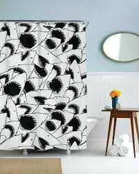 jaws shower curtain forever jaws shower curtain a forever jaws shower curtain shark shower curtain pottery barn
