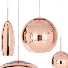 Tom Dixon Copper Round 45 Pendant Light
