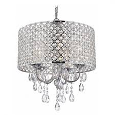 Full Size of Chandeliers Design:fabulous Endearing Silver Mist Hanging  Crystal Drum Shade Chandelier By Large ...