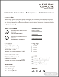 Resume Template Software Free Software Quality Engineer Cv Template Download 200 Resume