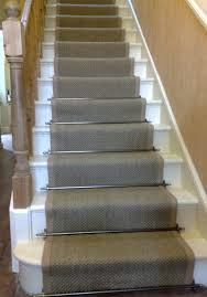 ... Striped Stair Runner Stairs Stylish Staircases Painted Steps Sisal  Bound Edges The Solid Brass Stairrods Give ...