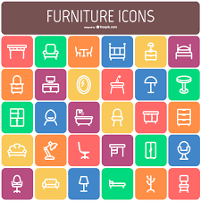 furniture icon. furniture icon collection free vector f