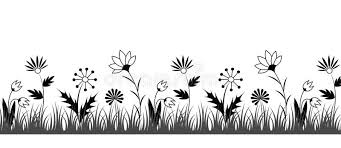 Border Black And White Black And White Flower Border Stock Vector Illustration Of Grass