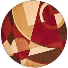 safavieh porcello red multi 7 ft x 7 ft round area rug