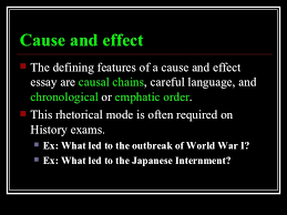 rhetorical modes cause and effect