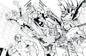 Justice League Coloring Page Justice League Coloring Pages Justice