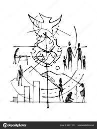 手描きベクトル イラストや広告シンボル十字宗教キリスト教の図面