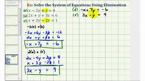 ex 3 system of three equations with three unknowns using elimination fractions